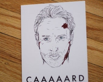 Funny greeting card. Rick Grimes. Walking Dead card.