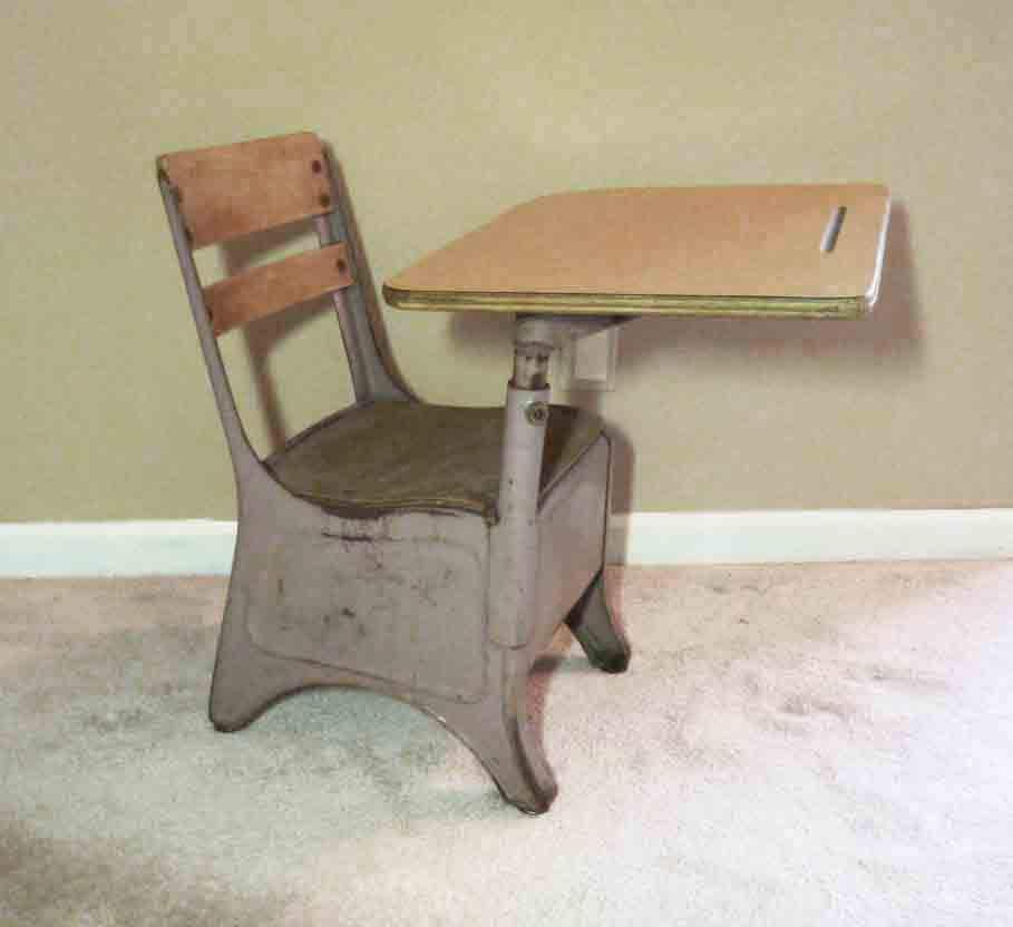 Vintage school desk elementary chair 50 s retro by refineddecor
