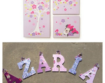 Minnie Mouse Wooden Letters (Purple)