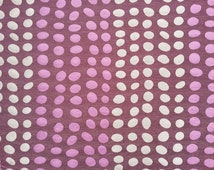 Purple/Aubergine TROMPE Large Spots/Spotty Upholstery fabric Vintage Curtains, chair covers, Roman Blinds, Duvet covers Fabric by the Metre