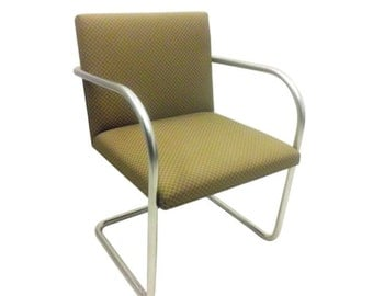Pairs of Knoll Brno Side Chairs in Gold Brick