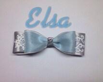 Elsa inspired disney bow (Frozen)