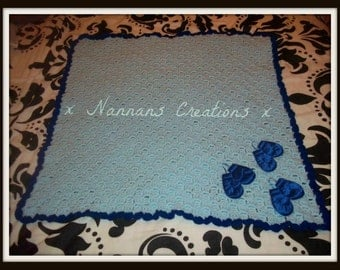 Baby Blanket Can be Made in the Colour or Colours of your Choice...These are made to order :)