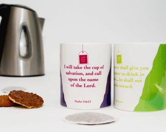 Caribbean & English 'Teas for Two' Mugs with a Message