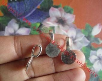 Wholesale 100pcs 18x10mm Tibetan Silver Round Shape bails