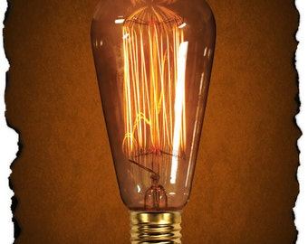 Edison Bulb 60 Watt Antique Light Vintage Filament Squirrel Cage