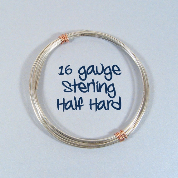 Sterling Silver Wire - 16ga HH - Choose Your Length from ...