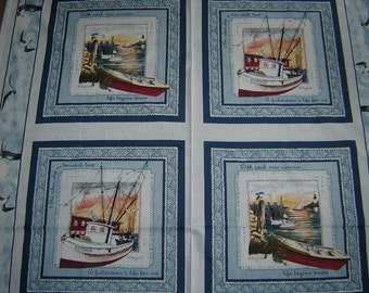 """Per panel, """"Sea Bound"""" fabric boats"""