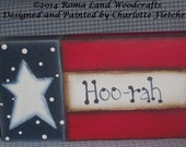 Small Hand painted Flag Sign, Patriotic, OFG, FAAP, Marine, Military, Red White and Blue, Gift, Americana,