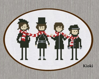 Cross Stitch Pattern The Beatles Instant Download