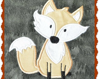 Fox Embroidery Applique Design- INSTANT DOWNLOAD