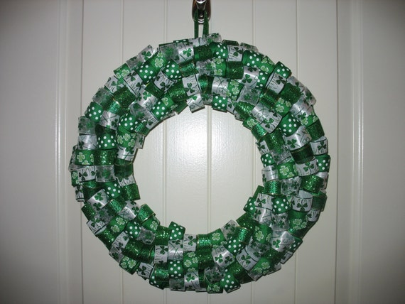St. Patrick's Day Ribbon Wreath