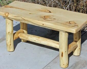 Red Cedar Juniper Log Night Stand 2 Drawer Barn Wood Furniture Rustic Furniture Log