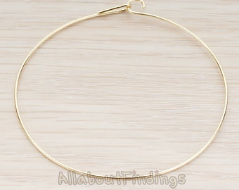 BSC218-G // Glossy Gold Plated Wire Findings for Bracelet, 1 Pc