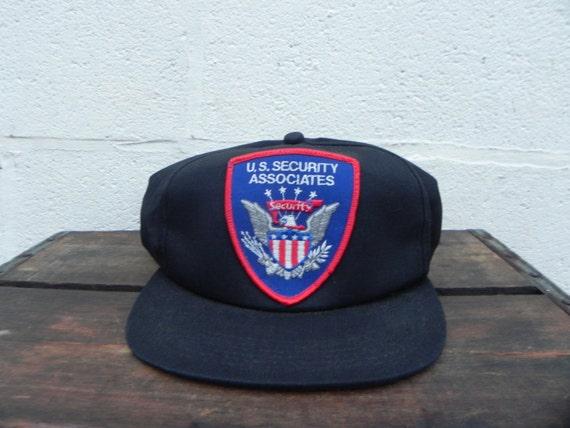 Vintage U.S. Security Associates Trucker Hat Snapback Cap