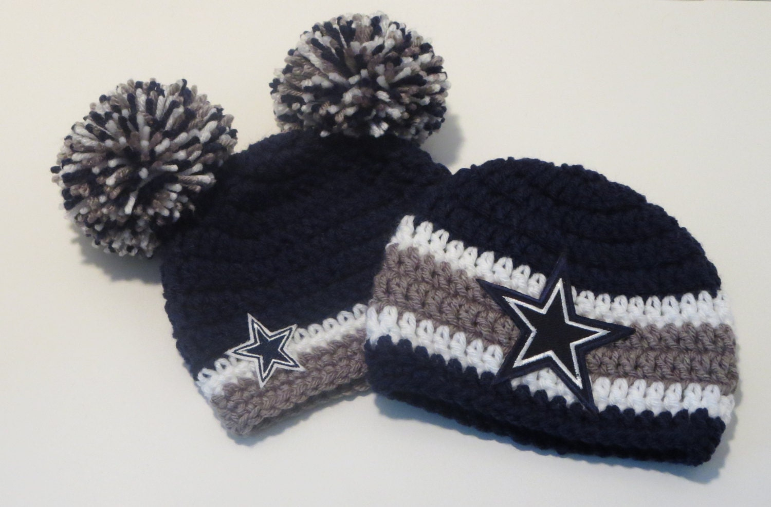 Dallas Cowboys Knit Hat Pattern : Crochet Dallas Cowboys Inspired by ZmirasBoutique on Etsy