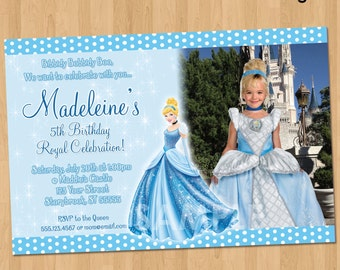 Cinderella Invitation - Printable Cinderella Birthday Invitation - Princess Cinderella Party Invite - Custom Personalized Cinderella Party