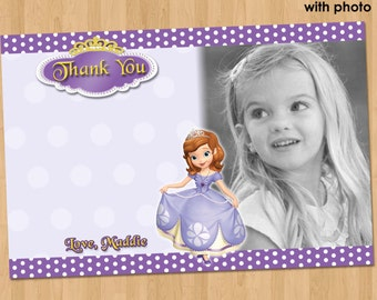 Princess sofia thank you card sofia the first thank you card sofia thank you sofia the first birthday party bookmarktalkfo Image collections
