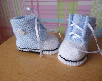 FREE KNITTING PATTERN FOR CONVERSE BOOTIES   KNITTING PATTERN