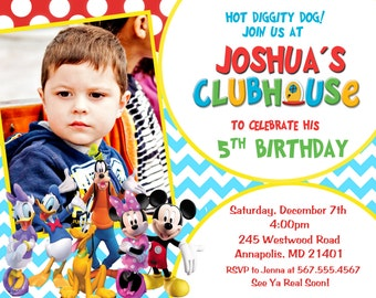 Mickey Mouse Clubhouse Birthday Party Invitation - Digital File