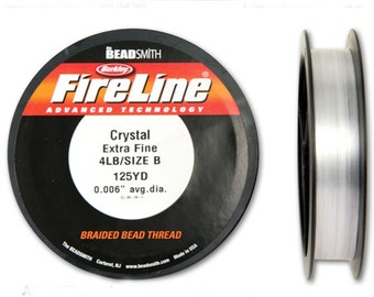Fireline Crystal 4LB 125 YDS Size B Braided Bead Thread