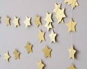Twinkle twinkle little star garland, gold paper wedding garland, christmas garland decor, nursery garland, holidays garland, nursery decor