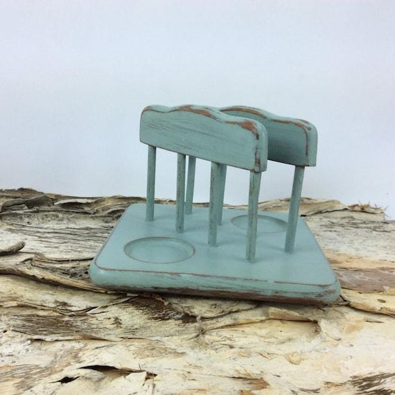 Items similar to blue napkin holder beach cottage chic - Coastal napkin holder ...