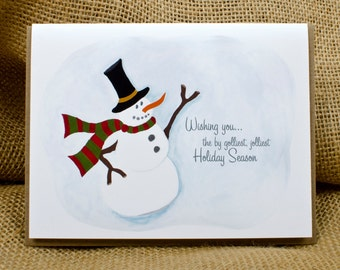 By Golliest, Jolliest Snowman, Christmas, Holiday Card