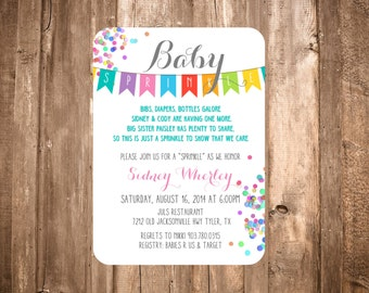 "Baby ""Sprinkle"" Shower; Bright Banner"
