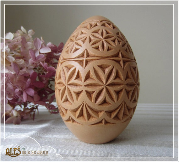 Items similar to easter egg hand carved basswood