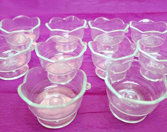 Miniature Plastic Sundae Cup 10 pcs