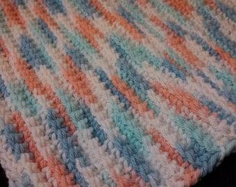 Hand crocheted wash cloth.