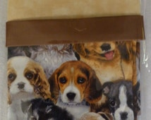 """Pillowcase Kit - Cute Puppies, Complete Kit, Make Your Own, Standard Size 20"""" x 30"""""""