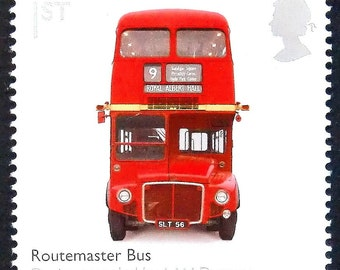Routemaster Bus -Handmade Framed Postage Stamp Art 15544