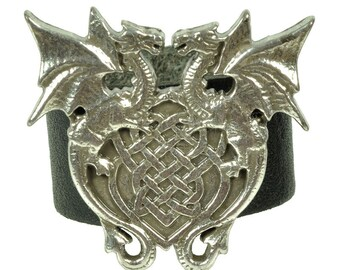 "Leatherring ""winged dragons"""