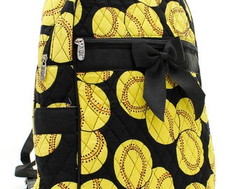 Personalized Quilted Softball Backpack