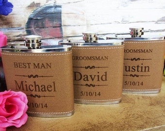 10 Personalized Groomsman Flask