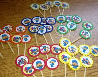Pocoyo Cupcake Toppers