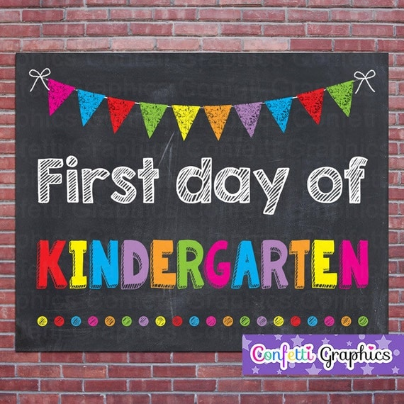 This is an image of Mesmerizing Free Printable First Day of School Signs 2020-2020