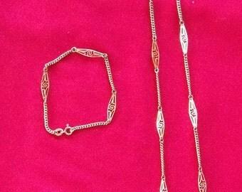 Vintage Italy Necklace & Bracelet