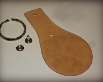 1 Unfinished Leather Key Fob Kit