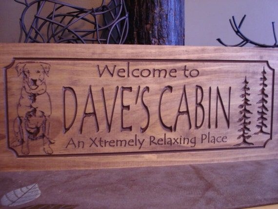 Pine Black Labrador signs name Signs Trees Family wooden   family rustic Welcome Last Rustic  Name