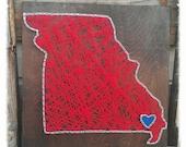 Missouri String Art, State String Art, Custom State String Art, State Pride Art
