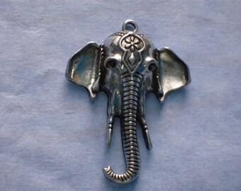 Large Indian Elepant Head Charm