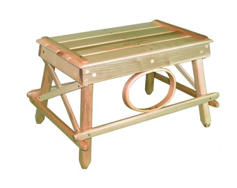 Solid Hickory Foot Stool