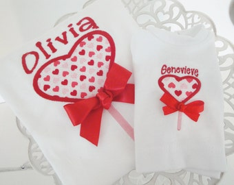 Personalized Valentine Heart Shirt