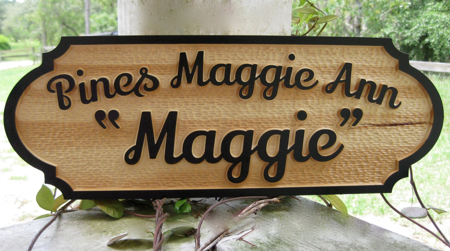 Horse Name Plate Stall Sign Personalized by