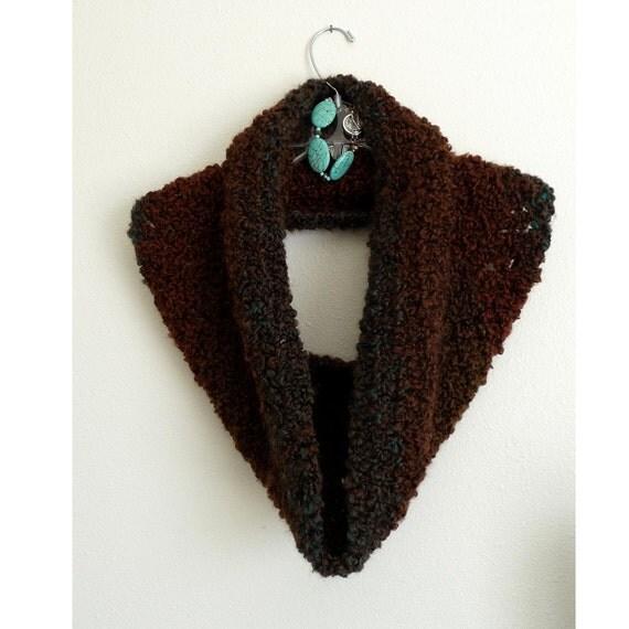 Woodland Ombre Cowl, Shoulder Hug, Shawl, Shrug, Crochet Scarf, Crochet Cowl Scarf, CR1004