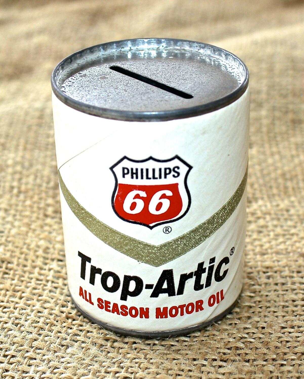 Vintage 1960s Phillips 66 Trop Artic All Season Motor Oil Mini