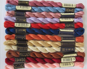 Anchor Pearl Cotton - 12 skeins of #5 (Thin) Anchor Pearl Cotton in Assorted Colors
